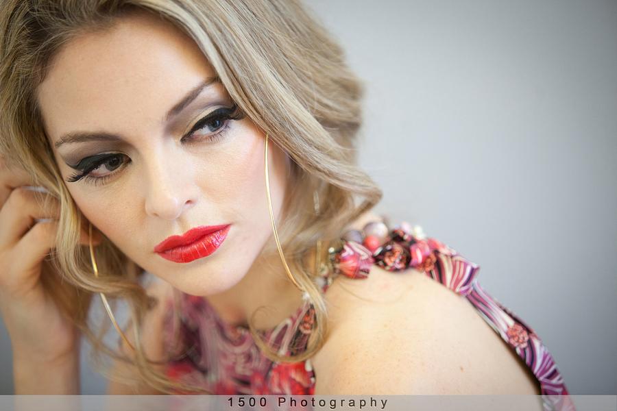 Engagement photo makeup